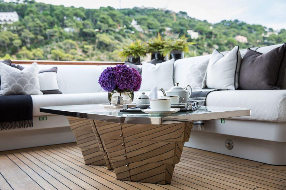 Super Yacht Furniture Madson Black Bespoke Fine Lighting Simple Yacht Furniture Design